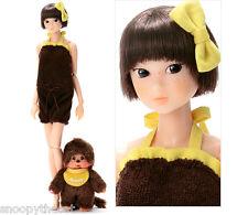 """Sekiguchi momoko Wake Up Doll + Monchhichi 40th anniversary """"Yellow""""  NRFB neufs"""