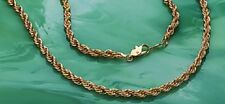 Diamond-cut French Rope Chain 20 inch 24KYGB Necklace with Lobster Claw Clasp