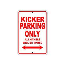 Kicker Football Player Parking Only Gift Decor Novelty Garage Aluminum Sign