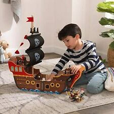 KidKraft Wooden Pirate Ship Playset Lights & Sounds Action Figures Kids Toy New