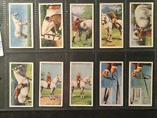 More details for 'horsemanship' full set 50 original lambert and butler cigarette cards exc/vgc