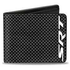 Men Wallet Bifold Black Dodge Viper Challenger Charger SRT Carbon Fiber Logo