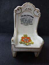 """Arcadian China modelo de """"el viejo sillón Arm Chair"""" con Leicester Crest"""