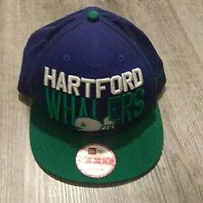 VTG Hartford Whalers New Era Snapback Hat logo throwback 90s 80s