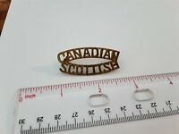 Military Army Title Pin Badge Metal Canadian Scottish Regiment