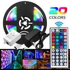 XMAS Party 5M 300 LED RGB SMD Light Strip Tape 12V+ Remote Control +Adapter Kit