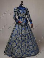 Victorian Renaissance Game of Thrones Queen Brocade Prom Dress Theater C021 M