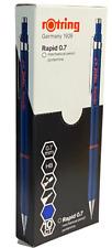 Rotring Rapid 0.7mm Mechanical Pencil Soft Rubber Grip Blue Barrel Twist Eraser