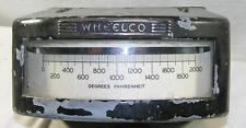 WHEELCO 0-2000 DEGREE FAHRENHEIT THERMOMETER/TYEMPERATURE METER-STEAM PUNK