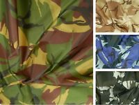 Camo Ripstop Army Military Camouflage Fabric Material 60''/150cms Wide Rip-Stop