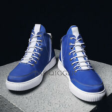 Men's High Top Lace Up Fashion Sneakers Sports Casual Shoes Board Shoes Side Zip