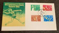 1982 Xii Commonwealth Games Brisbane Australian Fdc Brisbane Qld