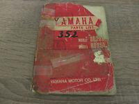 Yamaha Parts List Ersatzteilkatalog RD250 RD350 Dez. 1972 Explosionszeichnung