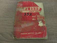 Yamaha Parts List catálogo de repuestos rd250 rd350 dic. 1972 explosión de dibujo