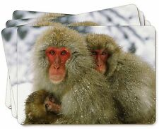 Monkey Family in Snow Picture Placemats in Gift Box, AM-4P