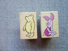 Disney Winnie The Pooh Bear and Piglet Rubber Stamps