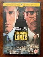 Cambio Lanes DVD 2001 Auto Crash Film Poliziesco Thriller W/Samuel L.JACKSON