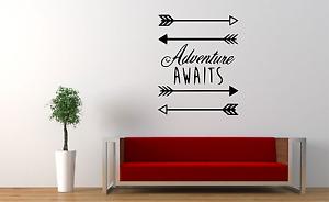 Adventure Awaits Arrow Wall Decal Sticker Home NQ22