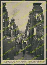 Enterrement ZEPPELIN cortège soldats Orden Coussin Stuttgart cimetière pragfriedhof à 1917