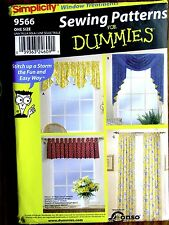 Simplicity 9566 - Sewing Patterns for Dummies - Window Treatments