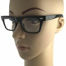 Thick Frame Fake Lens Rectangle Black Womens Clear Retro Prop Nerd Geek Glasses