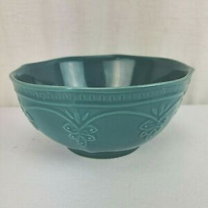 1 Green Pioneer Woman Farmhouse Lace Cereal Soup Bowl