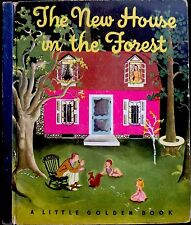 THE NEW HOUSE IN THE FOREST~Vintage Children's Little Golden Book ~WILKIN 1st Ed