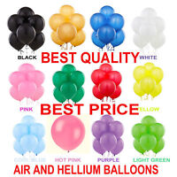 "12"" INCH Latex Balloons Helium & Air Quality Ballons COLOURS Baloons Birthday"