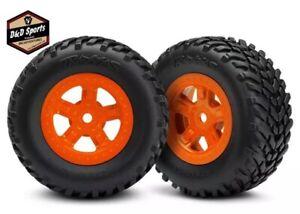 Traxxas LaTrax 7674A Tires & Wheels SCT Orange Assembled/Glued