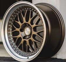 "18"" ESR SR01 18x9.5 18x10.5 +22 5x114.3 Matte Bronze Wheels Fit G35 G37 Coupe"