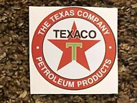 The Texaco Company, TEXACO, Petroleum Products, Vintage Dealer Window Sticker