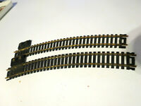 "Pair of Vintage Lionel HO Scale Snap Track Terminal No.45 Curve 18"" R Brass"