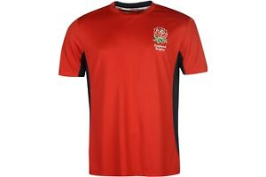 RFU Mens England Rugby Poly T Shirt Short Sleeve