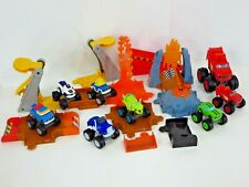 Fisher Price Blaze and the Monster Machines Flaming Volcano Jump Playset Lot