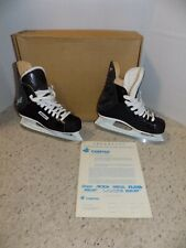 Nice Pair of Mens 6 Bauer Charger Black Leather Ice Skates w/ Box