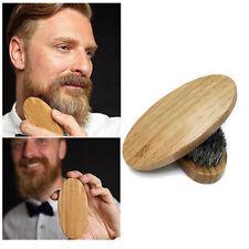 Spazzola bamboo setole cinghiale morbide per pettinare massaggiare barba e baffi