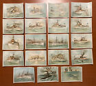 Set 18 Antique 1898 Color Litho Trade Cards U.S. Warships Spanish American War