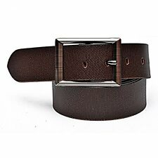 100% GENUINE LEATHER BROWN Doted BELT FOR MEN'S GENT'S CASUAL & FORMAL Belt