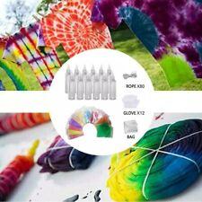 12 Colours Tie Dye Kit Arts Design Fabric Tye Art Craft Clothing Fashion Set UK