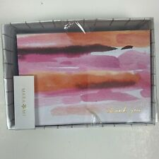 Thank You Note Cards Water Color By Mara Mi 24 Count New In Box