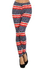 American Flag Leggings/Stretchy Pants - Super Soft/Peach Skin Feel