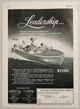 1949 Print Ad Plycraft Seaskout Wood Boats Halifax, Nova Scotia Canada