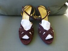 Robert De Carlo Brown Suede Wedges Size 10