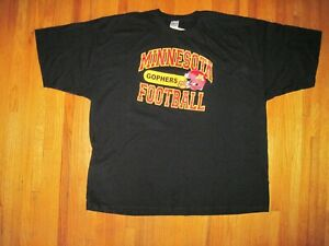 University of Minnesota Golden Gophers Black Heavyweight T-Shirt Size 3XL NWT
