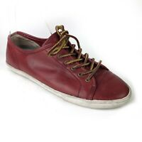 Frye Womens Shoe Size 9 Mindy Low Lace Up Leather Sneakers Red Sneaker