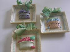 Mud Pie Plaques 3d Raspberries/Bluberries/Blackberries Dated 2000 Your Choice