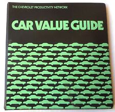 1978 CHEVROLET DEALER CAR VALUE GUIDE BOOK CORVETTE CAMARO MONTE CARLO NOVA GM
