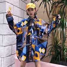 Women Shirt Blouse Loose Top Harajuku Tee Oversized Casual Long Sleeve Fashion