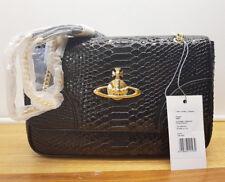 Authentic Vivienne Westwood Frilly Snake Black 5988V Crossbody Clutch Handbag