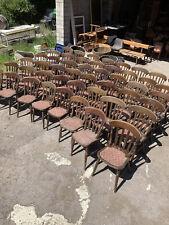 Pub Chairs Vintage Solid Wood Farmhouse